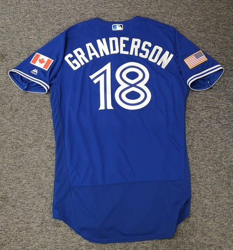 Photo of Authenticated Team Issued 2018 Independence Day Jersey - #18 Curtis Granderson. Size 46.