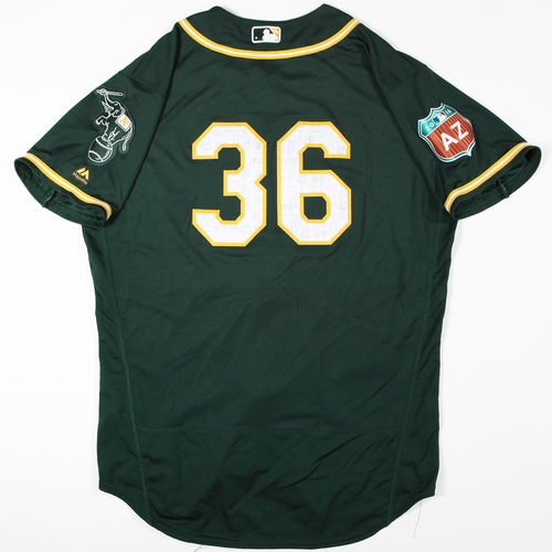 2016  Spring Training -  Game-Used Jersey - Matt Chapman (A's) - Size 48