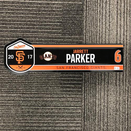 Photo of 2017 Regular Season Game Used Locker Tag - #6 Jarrett Parker