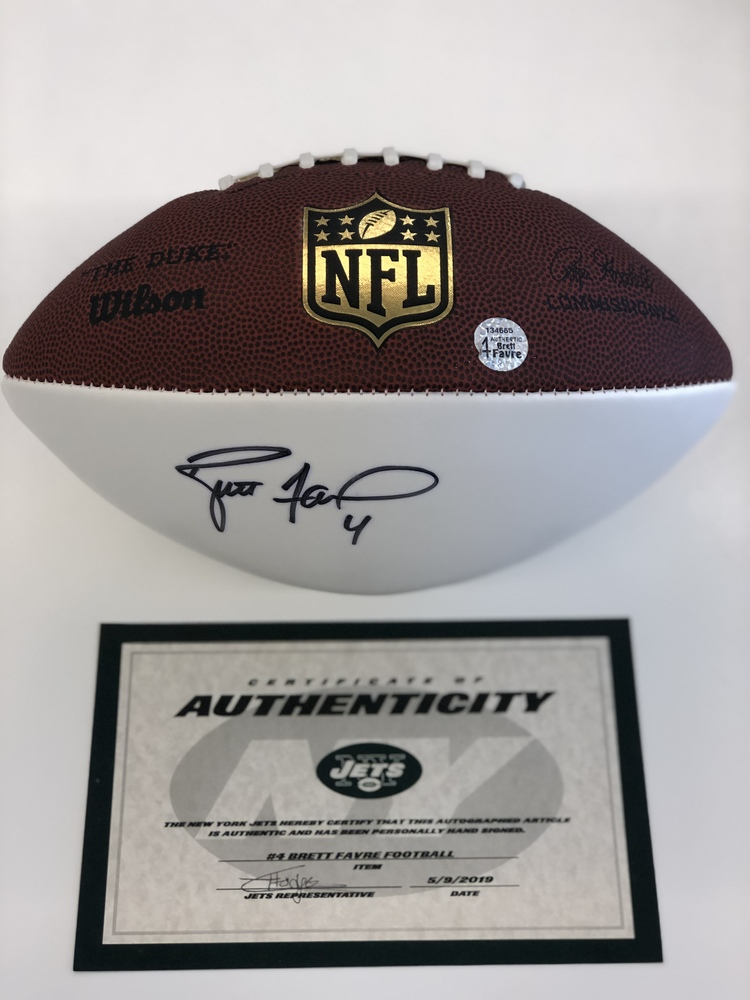 official photos de454 1b3f4 NFL Auction | New York Jets - Brett Favre - Autographed Football