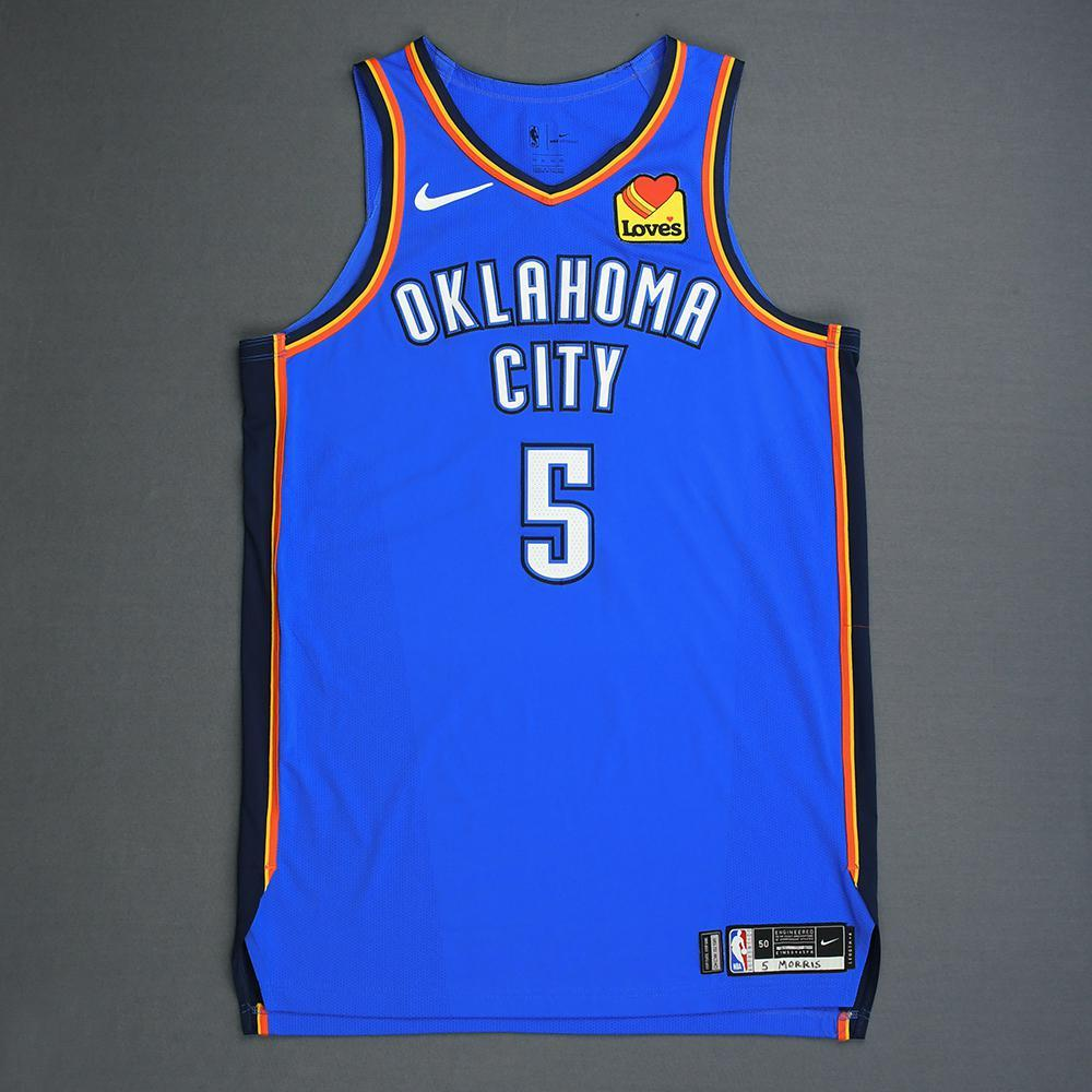 Markieff Morris - Oklahoma City Thunder - Game-Worn Icon Edition Jersey - 2019 Playoffs