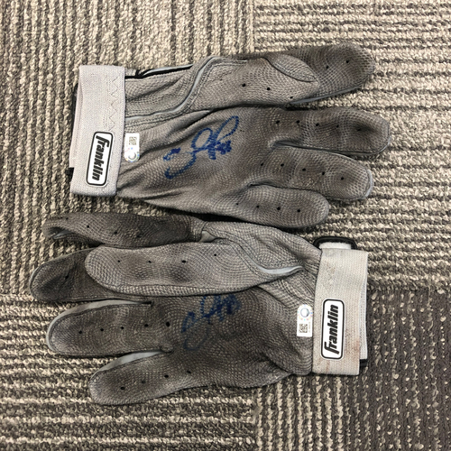 Photo of Autographed Batting Gloves (Pair) - Signed by 2x All Star Pablo Sandoval