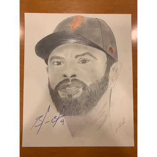 Giants End of Season Auction: Brandon Belt Autographed Portrait Sketch