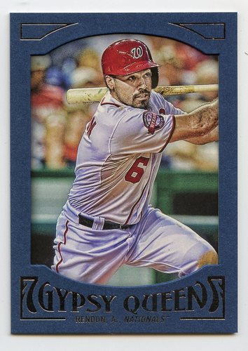 Photo of 2016 Topps Gypsy Queen Framed Blue #68 Anthony Rendon