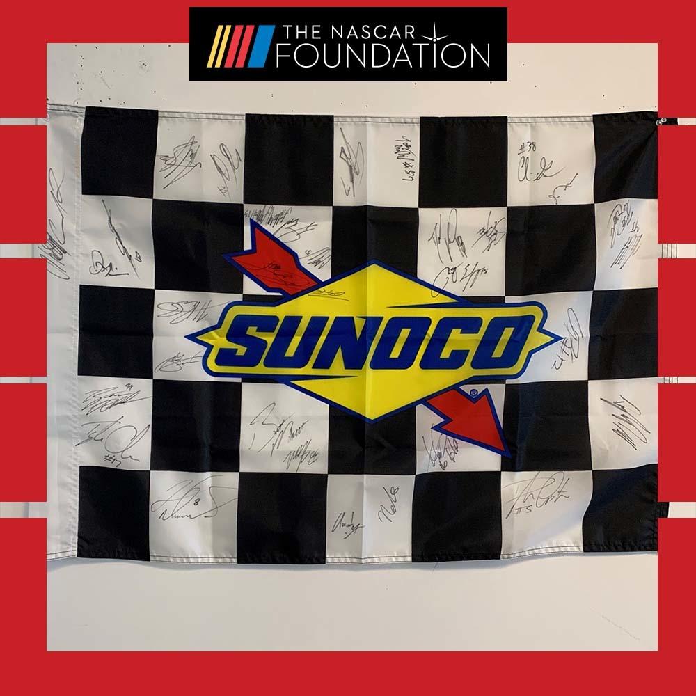 NASCAR's NGOTS Autographed Sunoco Checkered Flag!