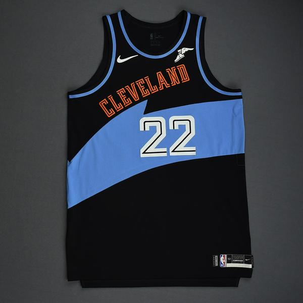 Image of Larry Nance Jr. - Cleveland Cavaliers - Game-Worn Classic Edition 1994-96 Road Jersey - 2019-20 Season