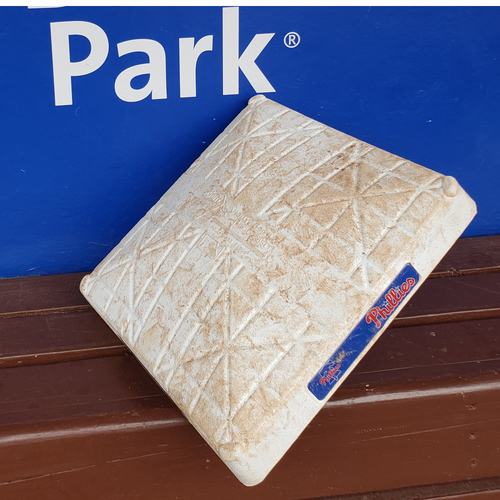 Photo of 2020 Philadelphia Phillies Game-Used Base (May) - PRESALE: Choose your Game Date!