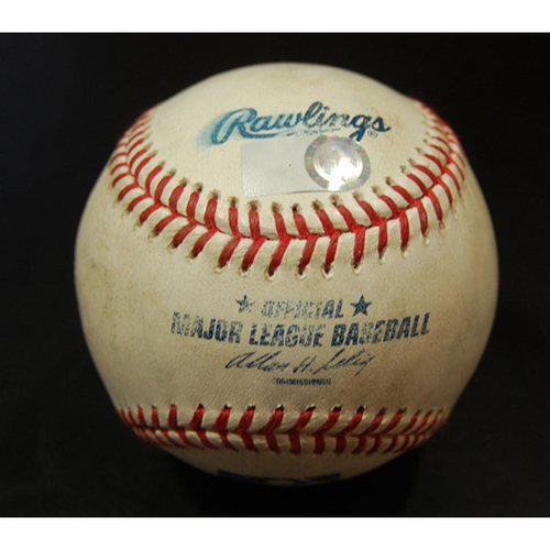Photo of Game-Used Baseball - Trevor Hoffman Career Save #528 Game and Greg Maddux Career Win #349 Game - San Diego Padres vs. Los Angeles Dodgers - 04/13/2008