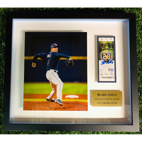 Photo of Rays Baseball Foundation: Blake Snell - 2018 A.L. Cy Young Award Winner Framed Piece