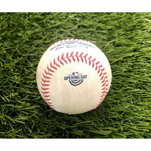 Photo of 2020 Opening Day: Game-Used Baseball: Giancarlo Stanton Home Run - 1st HR of 2020 Season
