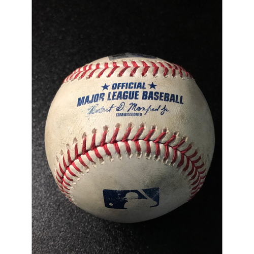 Game-Used Baseball - 2020 NLCS - Atlanta Braves vs. Los Angeles Dodgers - Game 2 - Pitcher: Tony Gonsolin, Batters: Travis d'Arnaud (Strike Out), Ozzie Albies (Line Out to LF) - Top 2
