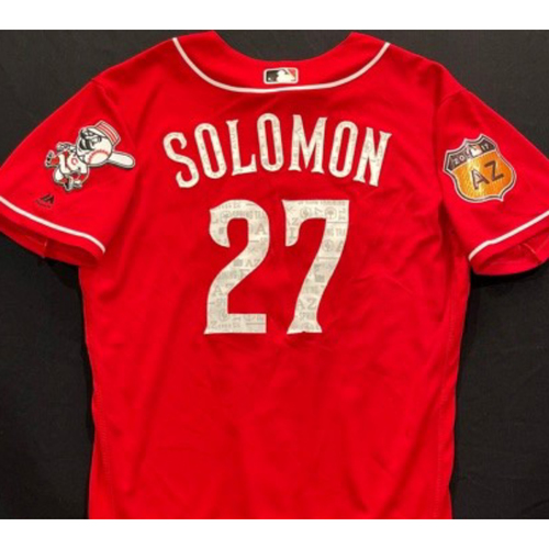 Photo of SOLOMON -- Authentic Reds Jersey -- $1 Jersey Auction -- $5 Shipping -- Size 44 (Not MLB Authenticated)