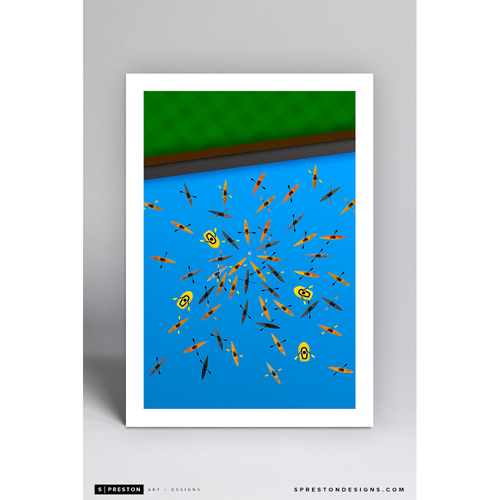 Photo of AT&T Park McCovey Cove - Minimalist Ballpark Art Print by S. Preston - San Francisco Giants