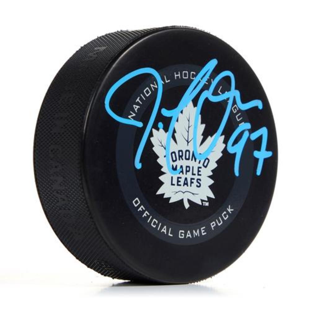 Joe Thornton Toronto Maple Leafs Signed & Inscribed Game Model Puck