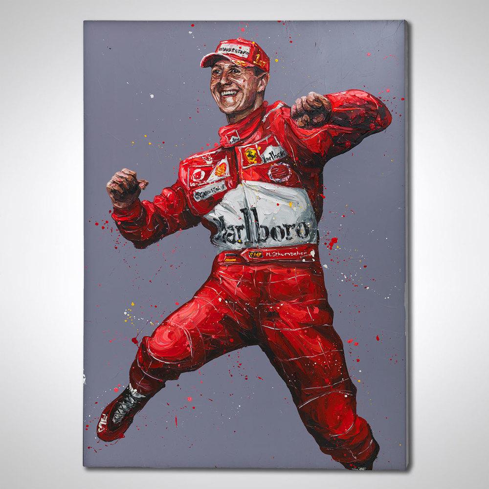 Michael Schumacher Hand Embellished Canvas - Paul Oz Artwork