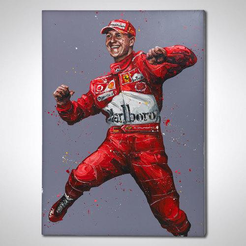Photo of Michael Schumacher Hand Embellished Canvas - Paul Oz Artwork