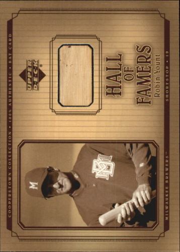 Photo of 2001 Upper Deck Hall of Famers Game Bat #BRY Robin Yount DP