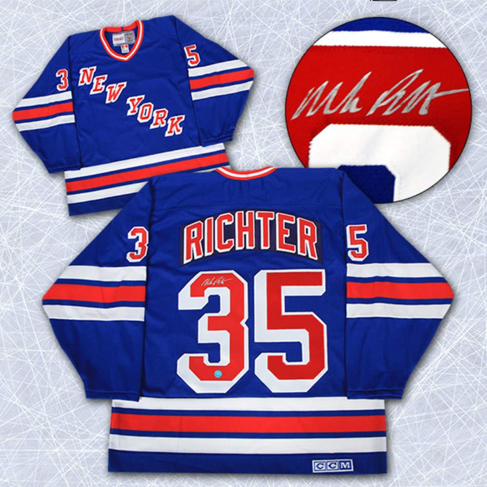 Mike Richter New York Rangers Autographed Retro CCM Hockey Jersey
