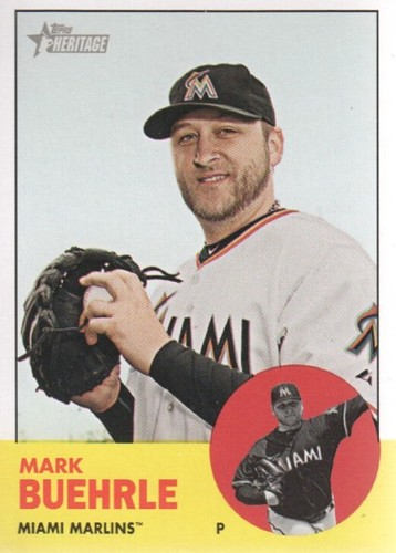 Photo of 2012 Topps Heritage #160 Mark Buehrle