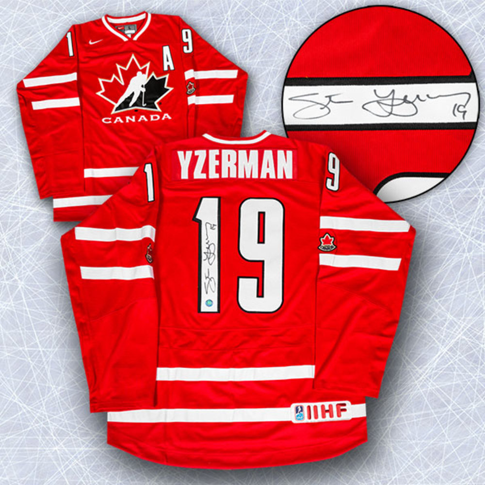 Steve Yzerman Team Canada Autographed Nike Olympic Hockey Jersey *Detroit Red Wings*