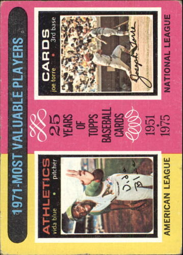 Photo of 1975 Topps #209 Vida Blue/Joe Torre MVP