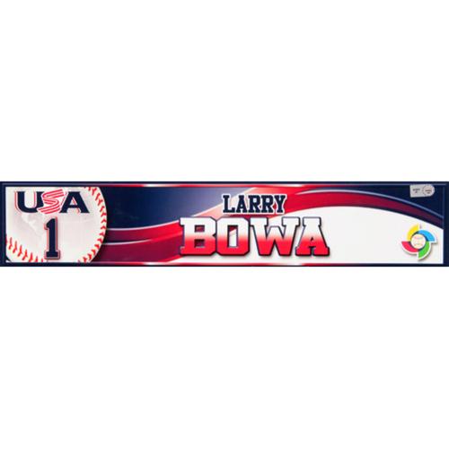 2013 WBC: USA Game-Used Locker Name Plate - #1 Larry Bowa