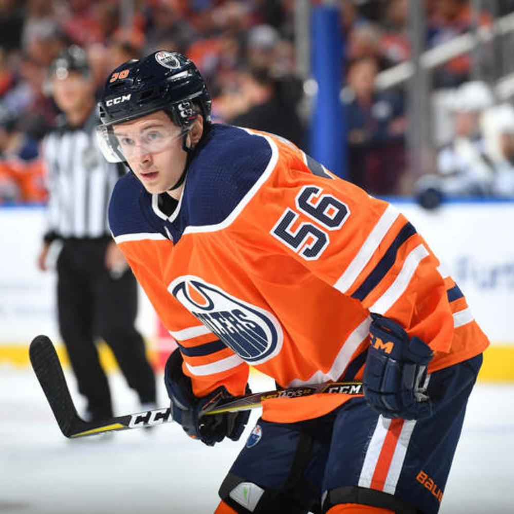 Kailer Yamamoto #56 - Autographed 2017-18 Rookie Season Edmonton Oilers Game Used CCM Super Tacks Stick