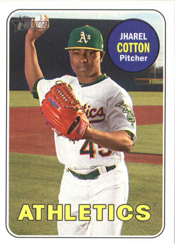 Photo of 2018 Topps Heritage #147 Jharel Cotton