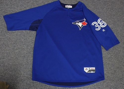Photo of Authenticated Team Issued Batting Practice Jersey - #38 Carlos Ramirez. Size XL.