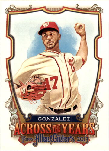 Photo of 2013 Topps Allen and Ginter Across the Years #GG Gio Gonzalez
