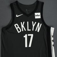 Ed Davis - Brooklyn Nets - 2018-19 Season - Game-Worn Gray Statement Edition Jersey
