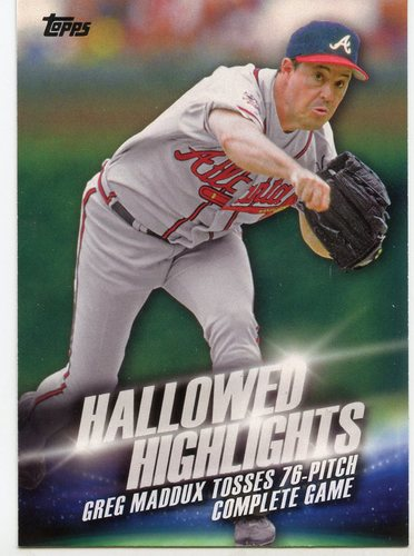 Photo of 2016 Topps Hallowed Highlights #HH15 Greg Maddux