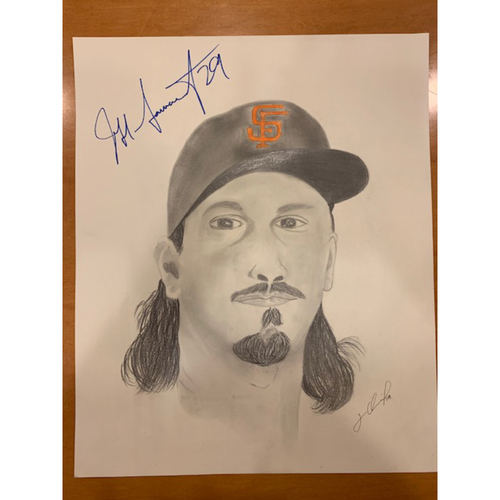 Photo of Giants End of Season Auction: Jeff Samardzija Autographed Portrait Sketch