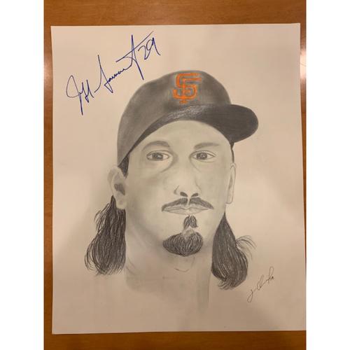 Photo of Giants End of Season Auction: Jeff Samardzija Autographed Portrait Sketch