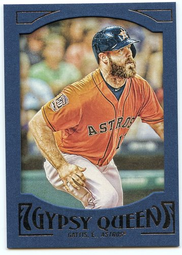 Photo of 2016 Topps Gypsy Queen Framed Blue #70 Evan Gattis