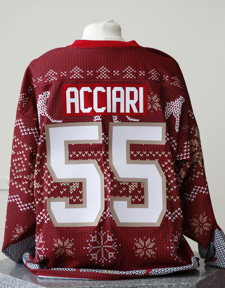 #55 Noel Acciari Autographed Holiday Jersey
