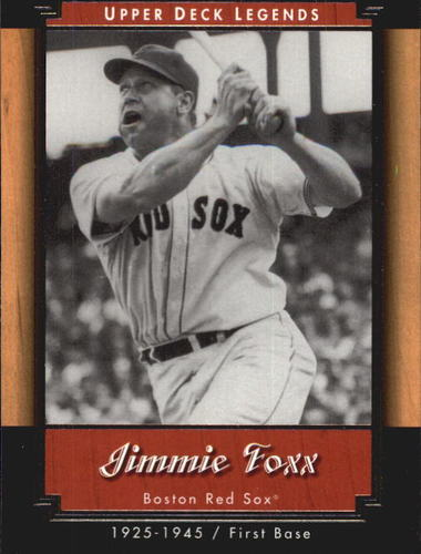 Photo of 2001 Upper Deck Legends #23 Jimmie Foxx