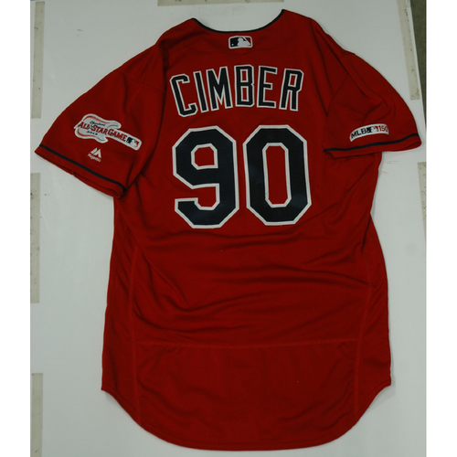 Photo of Adam Cimber 2019 Game Used Alternate Home Jersey