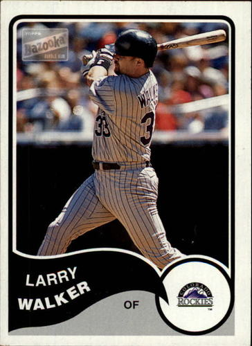Photo of 2003 Bazooka Minis #60 Larry Walker