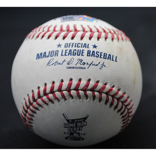 Photo of 2018 Home Run Derby (07/16/18) - Game-Used Baseball - Jesus Aguilar (Milwaukee Brewers) - Round 1, Out