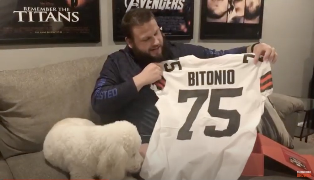 Joel Bitonio Autographed Browns 2020 Jersey from Uniform Unveil