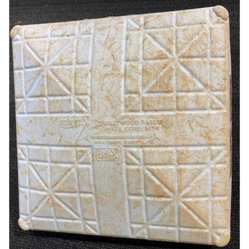 Photo of Game-Used Base from September 17, 2020: White Sox Clinch 2020 Playoff Spot (First Base)