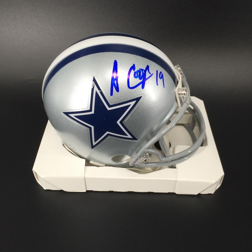 NFL - Cowboys Amari Cooper Signed Mini Helmet