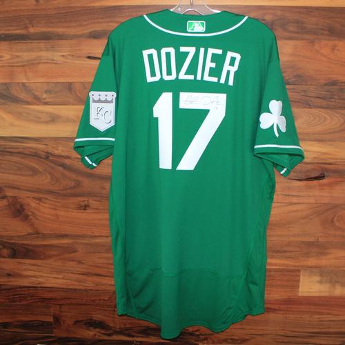 Photo of Autographed St. Patricks Day Jersey: Hunter Dozier (Size 48)