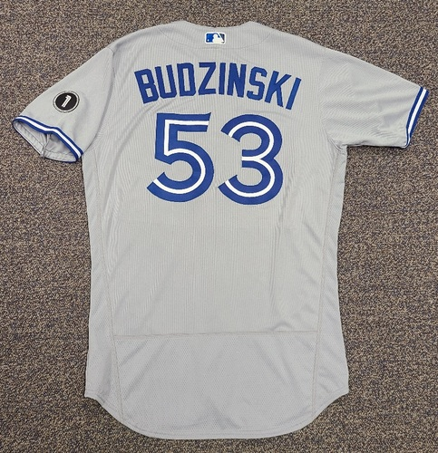 Photo of Authenticated Team Issued Jersey: #53 Mark Budzinski (2020 Season). Set 2. Size 44.