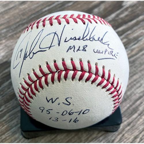 Photo of UMPS CARE AUCTION: John Hirschbeck Signed Baseball