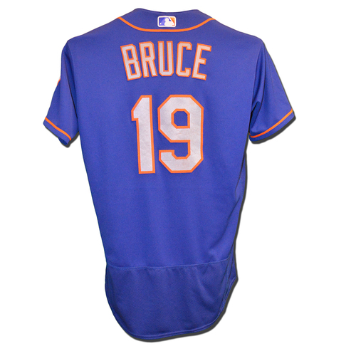 Jay Bruce #19 - Game Used Blue Alternate Road Jersey - Bruce Goes 1-4, Hits 26th Home Run of 2017, 3 RBI - Mets vs. Padres - 7/27/17