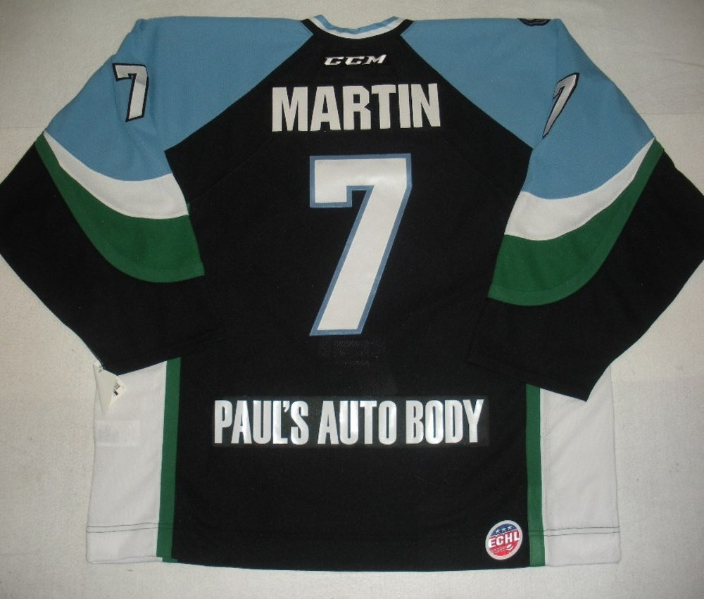 James Martin - 2014 Kelly Cup Finals - Alaska Aces - Black Game-Issued Jersey - Game 4
