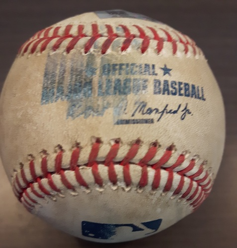 Photo of Authenticated Game Used Baseball - Mike Bolsinger Strikeout on May 26, 2017 (Top 5 vs Nomar Mazara)