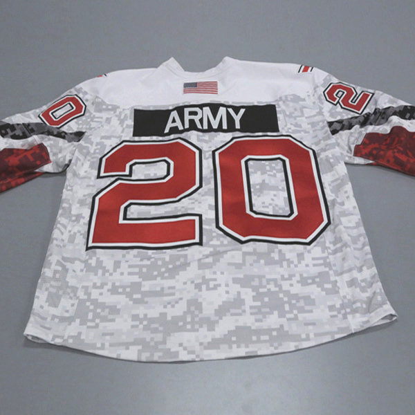 "Photo of Ohio State Ice Hockey Military Appreciation Jersey #20 ""Army"" / Size 56"